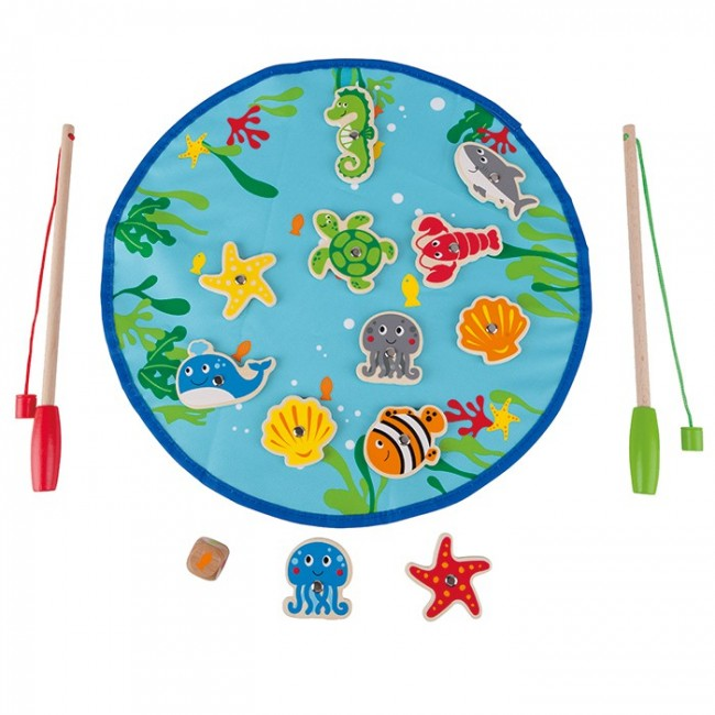 Hape let 39 s go fishing kids game toy for Lets go fishing game