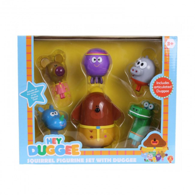 Hey Duggee Squirrel Figurine Set Hey Dugee Cake Topper