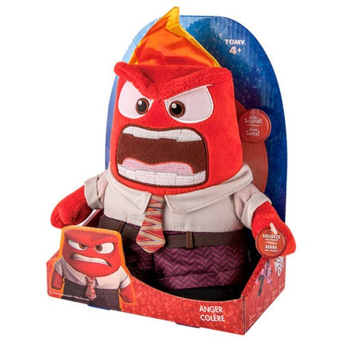 Disney Pixar Monsters University 3 Piece Room In A Box: Inside Out Anger Plush With Sounds