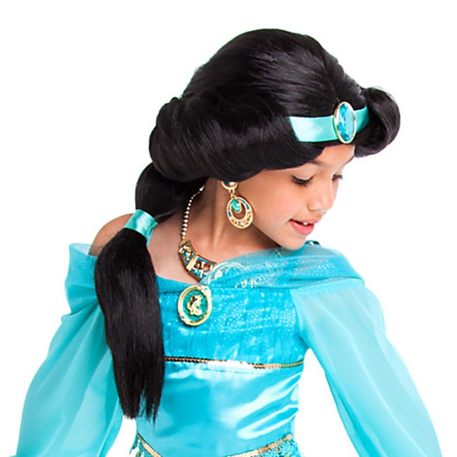 Kids Learning Tablet >> Princess Jasmine Wig Hair for Kids - Costume Accessories