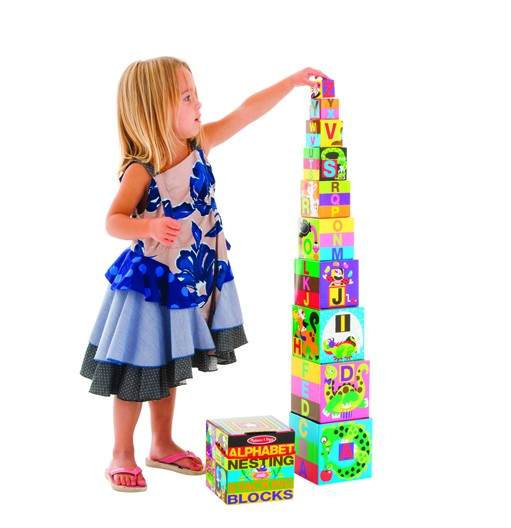 Melissa Doug Alphabet Nesting Stacking Blocks Toys City