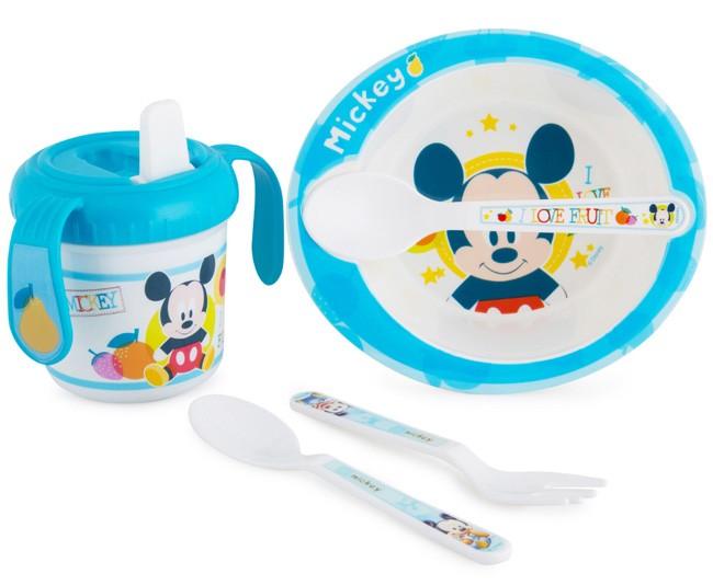 Zak Mickey Mouse Baby Mealtime Set