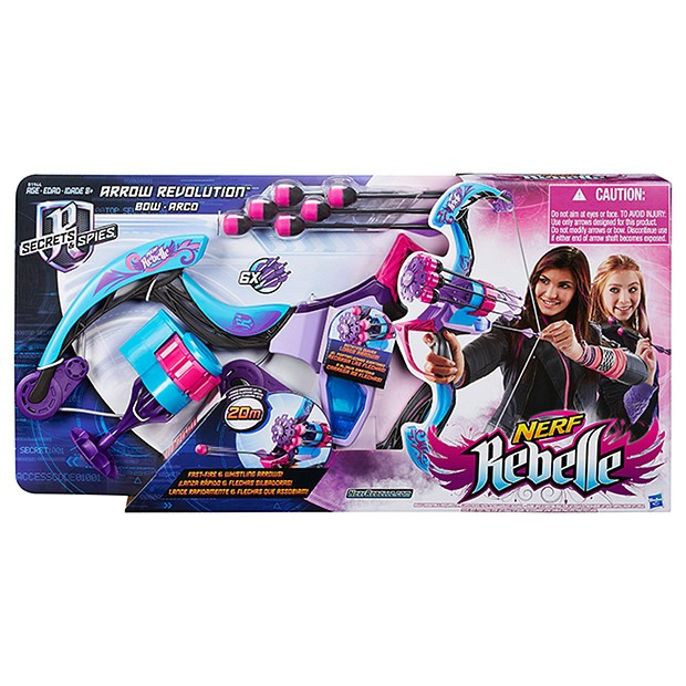 Nerf Rebelle Secrets And Spies Arrow Revolution Bow