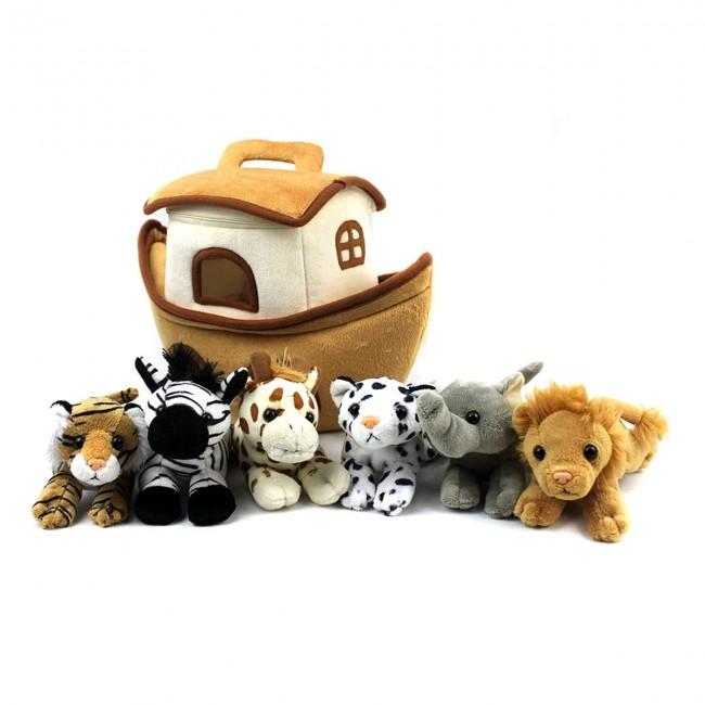 Noah S Ark Plush Toy 5 Plush Animals And Animal House