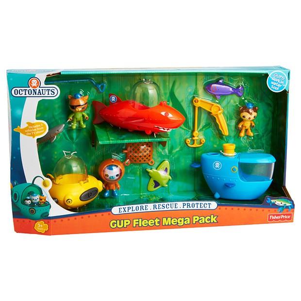 Fisher Price Octonauts Gup Fleet Mega Pack Toy Play Set