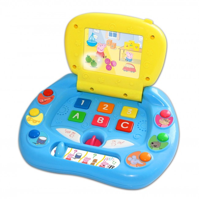 Computer Learning Toys : Peppa pig my first laptop kids notebook computertoy