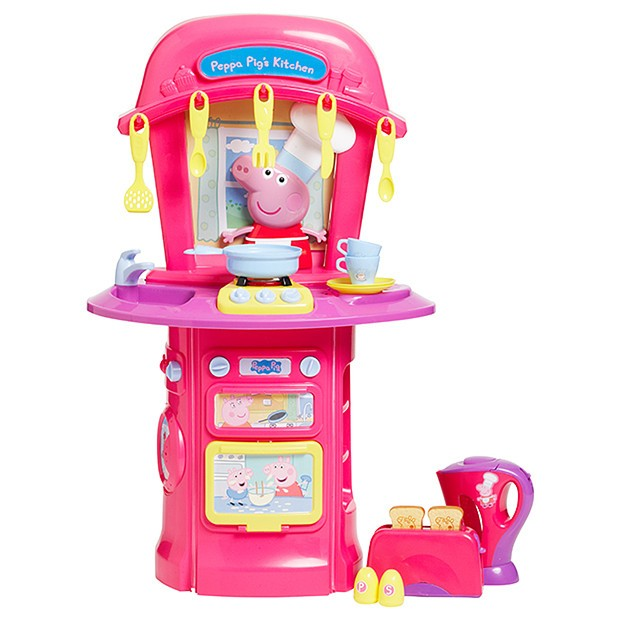Peppa Pig Kitchen Cooking Play Set And Appliances