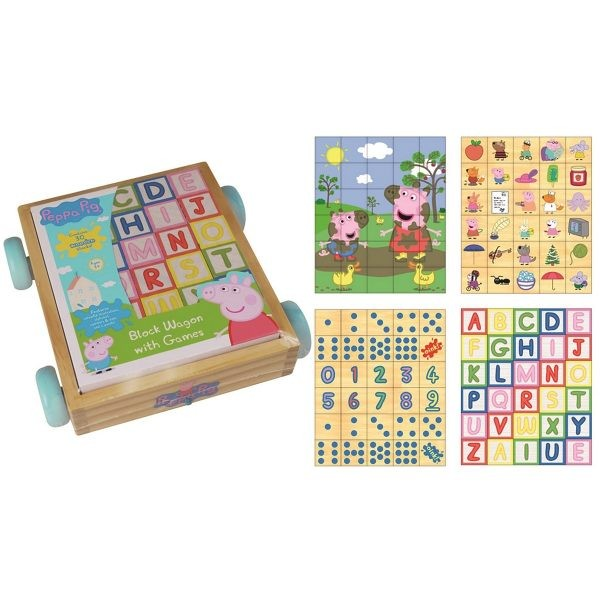 Peppa Pig Block Wagon With Games Puzzle Numbers Dots