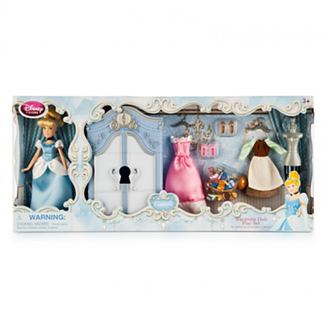 Disney Princess Cinderella Doll Figure Wardrobe Play Set