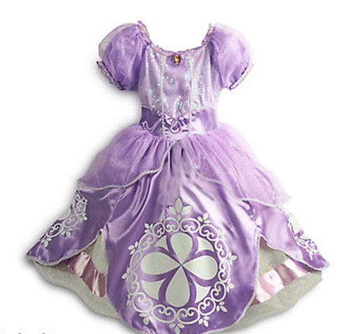 Princess Sofia The First Dress Up Costume For Kids Girls