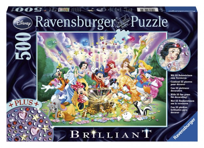 Ravensburger Disney Treasure Brilliant Puzzle 500p Toys