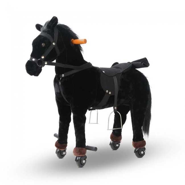 Ride On Toy Horse Pony Black Riding Horse Toy For Kids