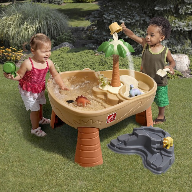 Step2 Dino Dig Sand And Water Table Kids Toy