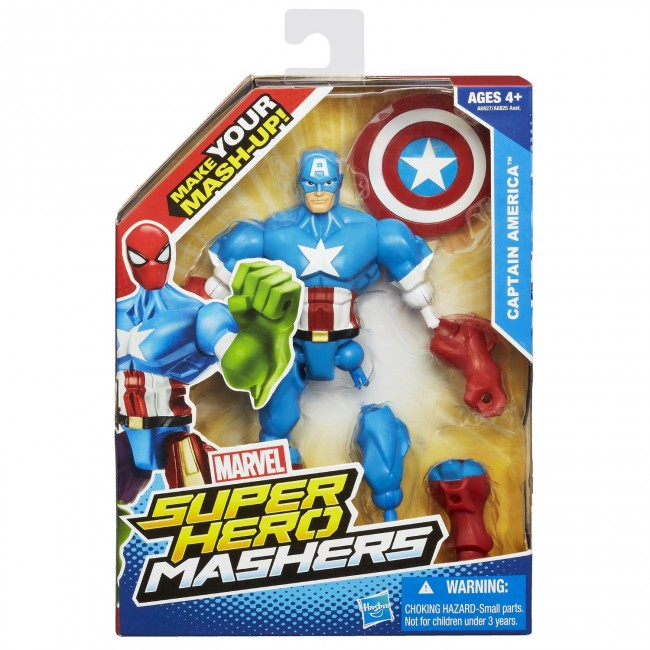 Christmas Gifts For 18 Year Old Boy: Marvel Super Hero Mashers Captain America Figure