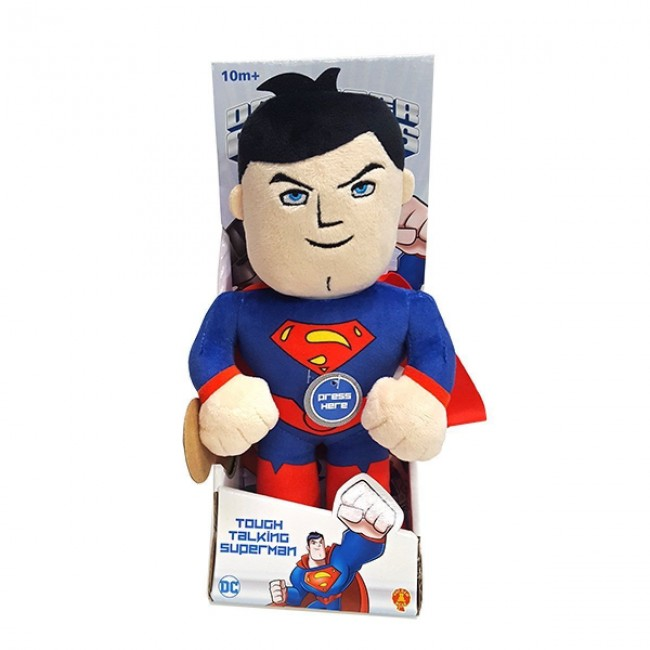 Dc Super Hero Superman Plush Talking With Sound Toy