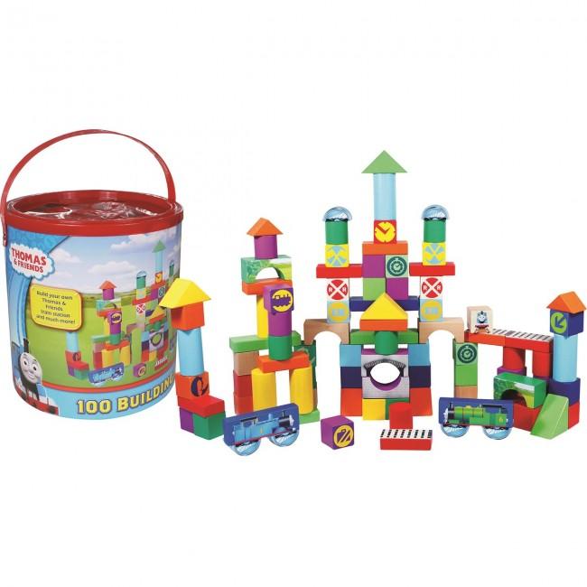 Thomas And Friends 100 Building Blocks Children Wooden Block