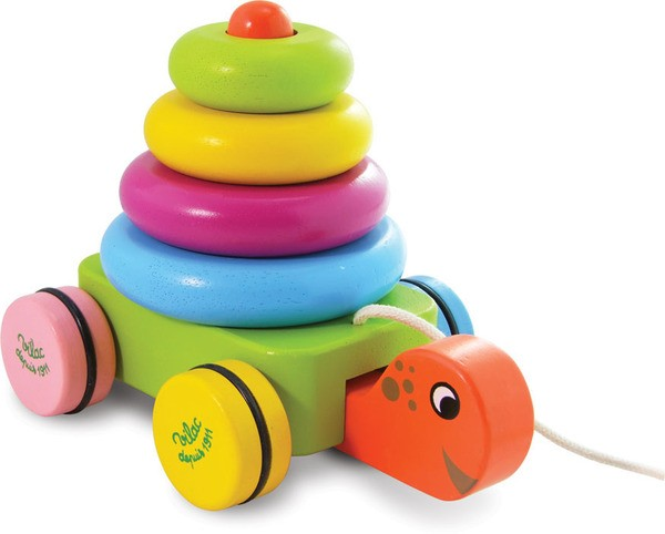 Turtle Stacker Pull Along By Vilac Children Wooden Toys