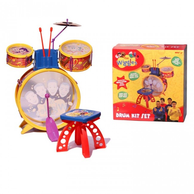 The Wiggles Drum Kit Set Kids Musical Instrument Toy
