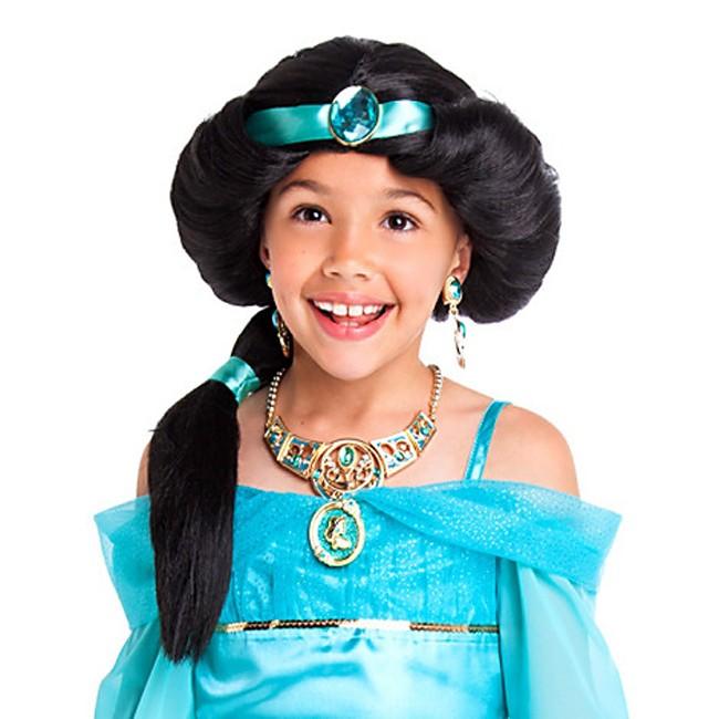 Princess Jasmine Wig Hair For Kids Costume Accessories