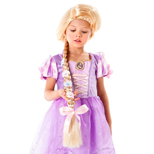 Rapunzel Wig With Braid For Kids Costume Accessories