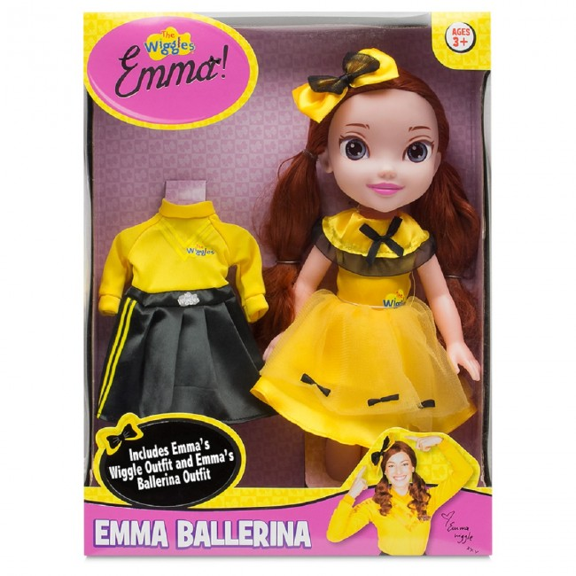 the yellow wiggles emma ballerina doll