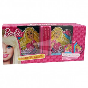 Barbie Books with Wooden Bookends