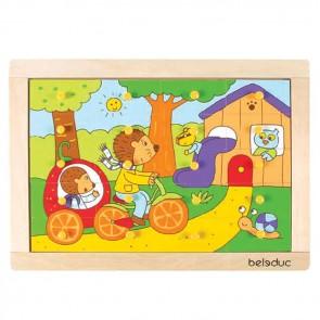 Hedgehog Puzzle Beleduc Toy