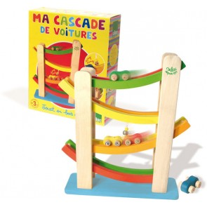 Car Tower Sliding Wooden toy by Vilac