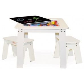 p'kolino chalk table benches