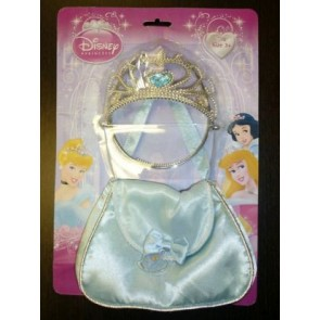 princess CINDERELLA HAND BAG  and TIARA