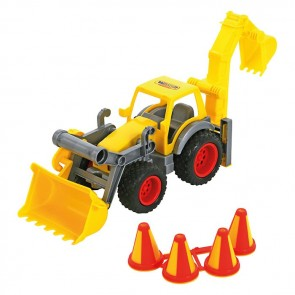 Construction Loader With Rear Excavator toy
