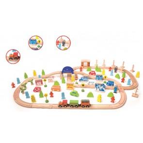 Train Set 110 pieces Classic World