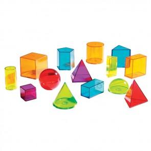 Geometric Solids Set view through 3d