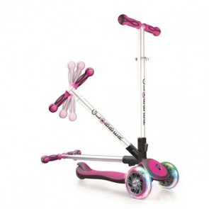 globber 3 wheels scooter pink flash wheels