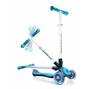 globber 3 wheels fold up scooter blue