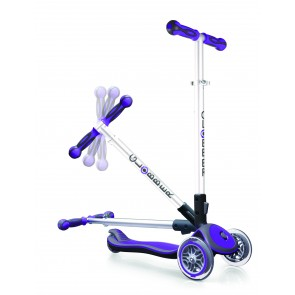 globber kids scooter purple 3 wheel