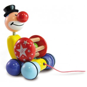 Clown Pull Toy Vilac toy wood