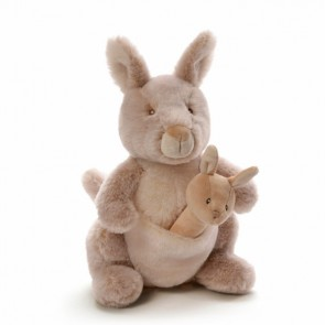 GUND Oh So Soft Kangaroo Plush & Rattle