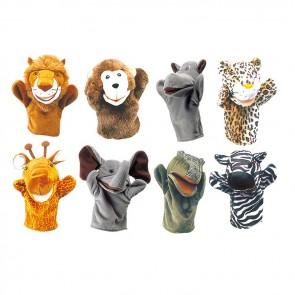 Hand Puppet Set Safari Animals