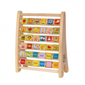 abacus alphabet letter wood toy