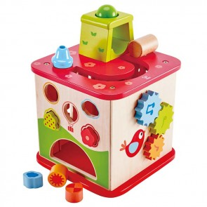 Hape kids Activity wooden toy cube box