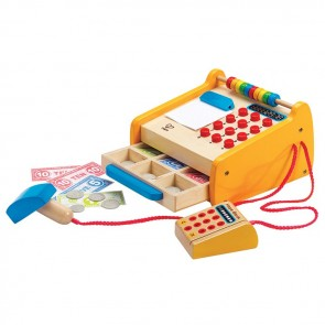 hape wooden toy cash register