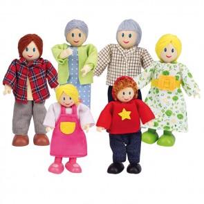 Hape Dolls Caucasian Family Set of 6 doll