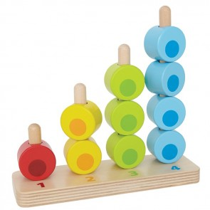 hape stacker learning number