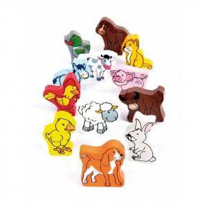 Hape Farm Animal toy wood