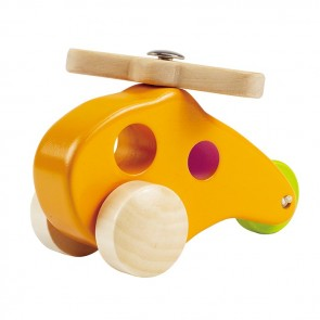 hape little copter wood toy