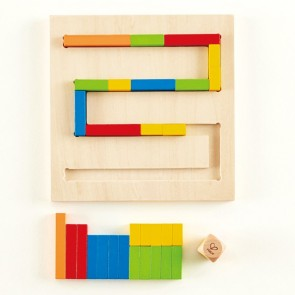 hape path finder wooden game