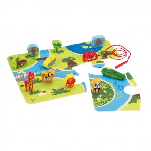 Hape on Safari wooden animal toy