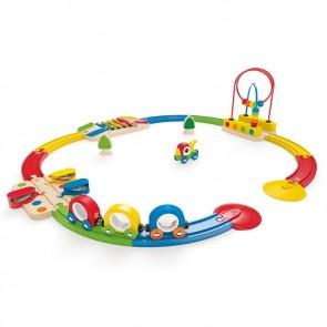 Hape Sights & Sounds Railway Set