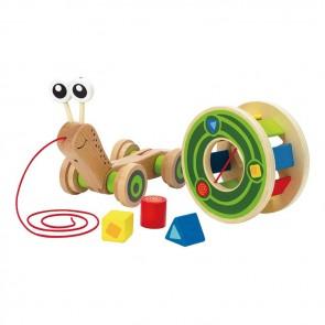 Hape Snail Learning Shape Sorter Wooden Toy